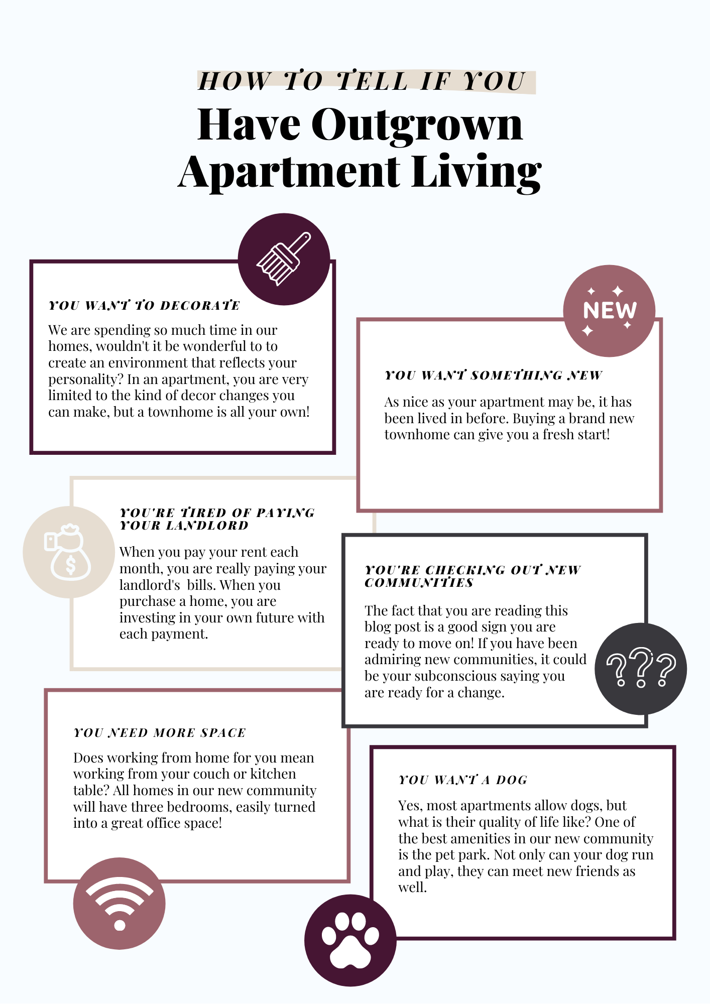 Have you outgrown your apartment?