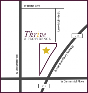 Map of Thrive at Providence Community