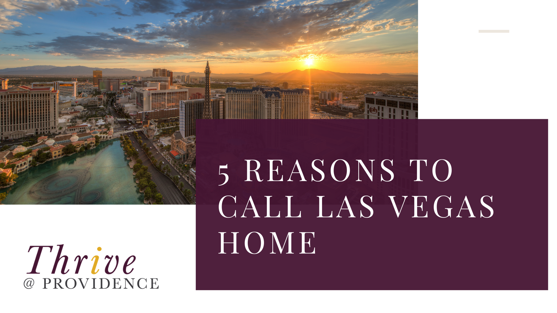 You should move to las vegas